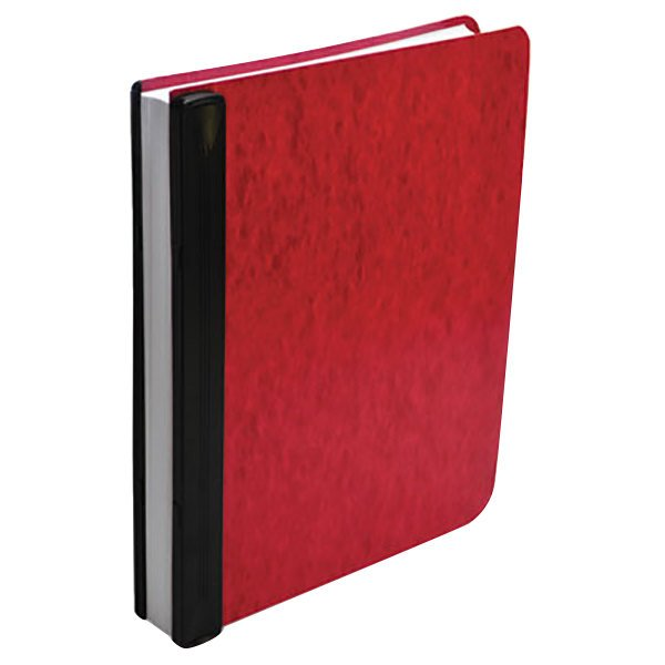 """Acco 55261 Letter Size Side Bound Hanging Data Post Binder - 6"""" Capacity with 2 Fasteners, Red Main Image 1"""