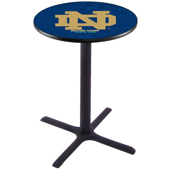 """Holland Bar Stool L211B3628ND-ND 28"""" Round University of Notre Dame Pub Table"""