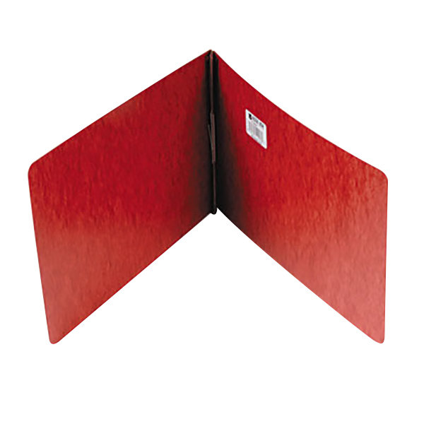 "Acco 19928 8 1/2"" x 14"" Red Pressboard Top Bound Legal Report Cover with Prong Fastener - 2"" Capacity"