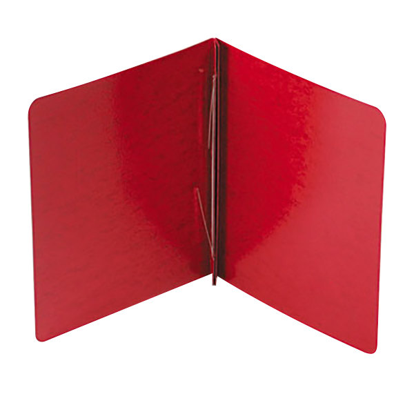 """Acco 25079 8 1/2"""" x 11"""" Executive Red Presstex Side Bound Report Cover with Prong Fastener - 3"""" Capacity"""