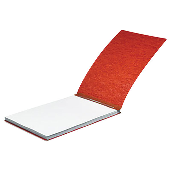 """Acco 18928 8 1/2"""" x 11"""" Earth Red Pressboard Top Bound Report Cover with Spring Fastener - 2"""" Capacity"""