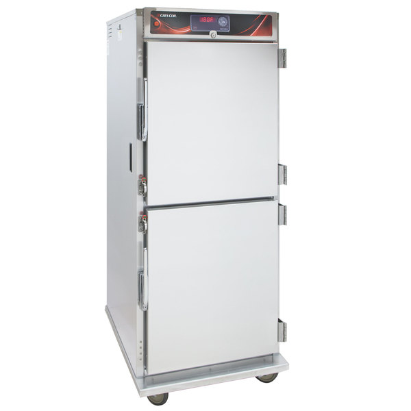 Cres Cor H-137-SUA-12D-Z Insulated Full Height Correctional Stainless Steel Holding Cabinet with Solid Dutch Doors - 120V, 1500W