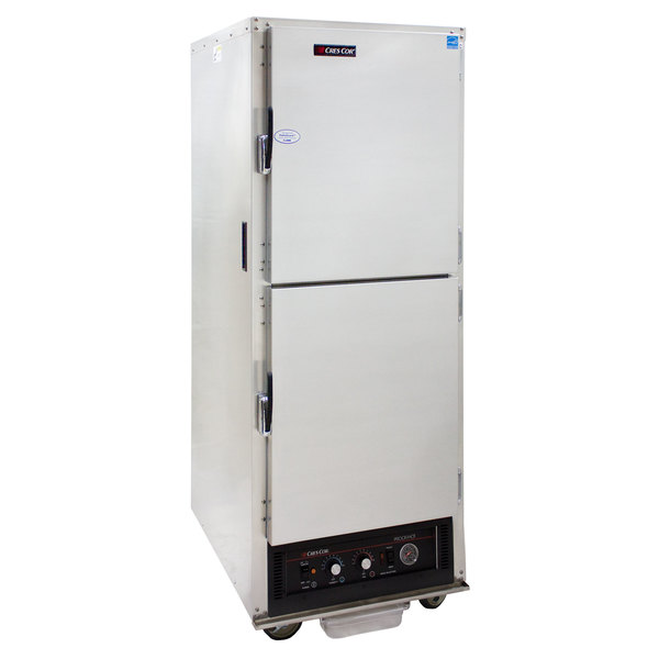 Cres Cor H-135-WUA-11 AquaTemp Insulated Full Height Aluminum Holding Cabinet with Adjustable Humidity and Solid Dutch Doors - 120V, 2000W Main Image 1