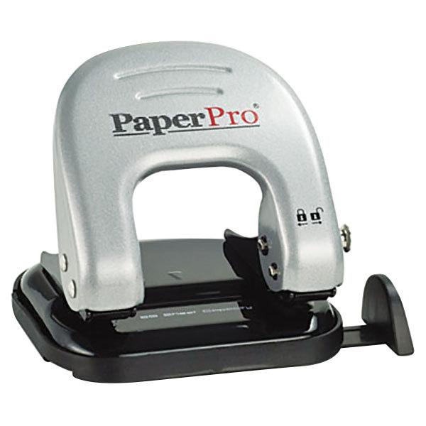 "Bostitch PaperPro 2310 inDULGE 20 Sheet Black and Silver 2 Hole Punch - 9/32"" Holes Main Image 1"
