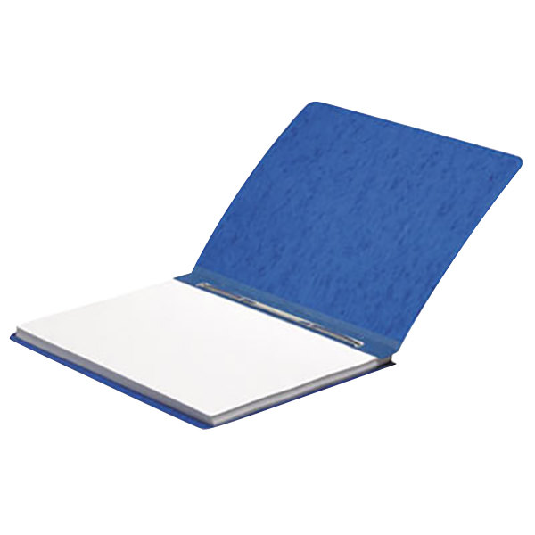 """Acco 25073 8 1/2"""" x 11"""" Dark Blue Presstex Side Bound Report Cover with Prong Fastener - 3"""" Capacity"""