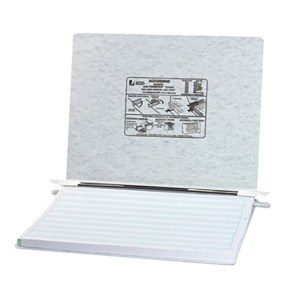 """Acco 54074 11"""" x 14 7/8"""" Side Bound Hanging Data Post Binder - 6"""" Capacity with 2 Fasteners, Light Gray"""