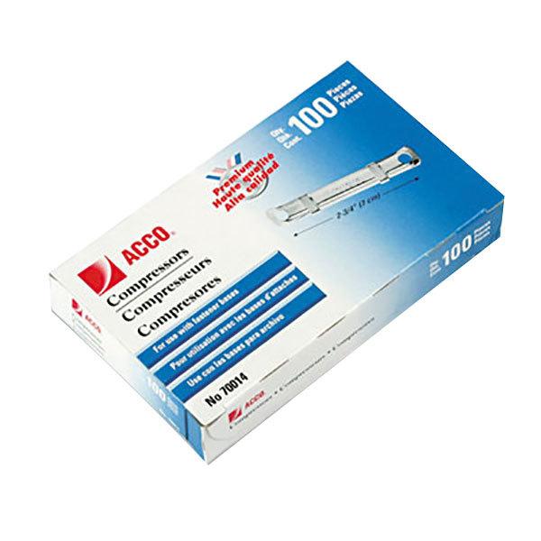"""Acco 70014 1"""" Two-Piece Paper Fastener Compressor - 100/Box"""