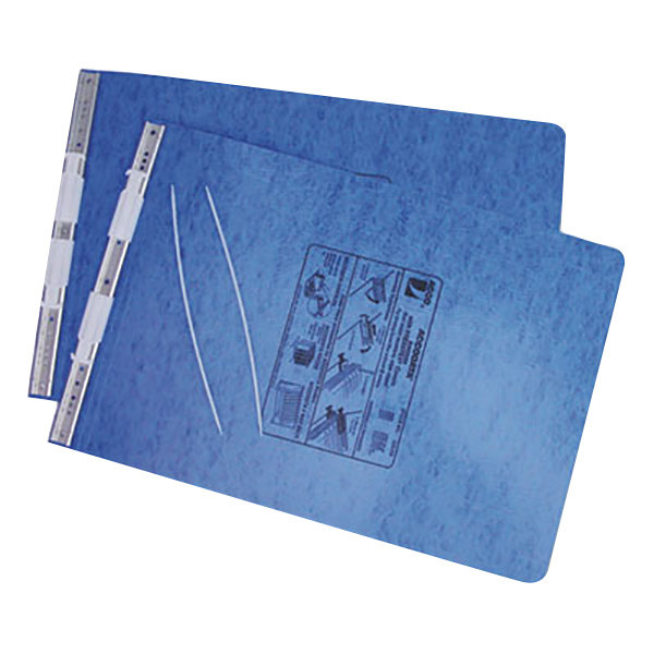 "Acco 54272 11"" x 14 7/8"" Top Bound Hanging Data Post Binder - 6"" Capacity with 2 Fasteners, Light Blue Main Image 1"