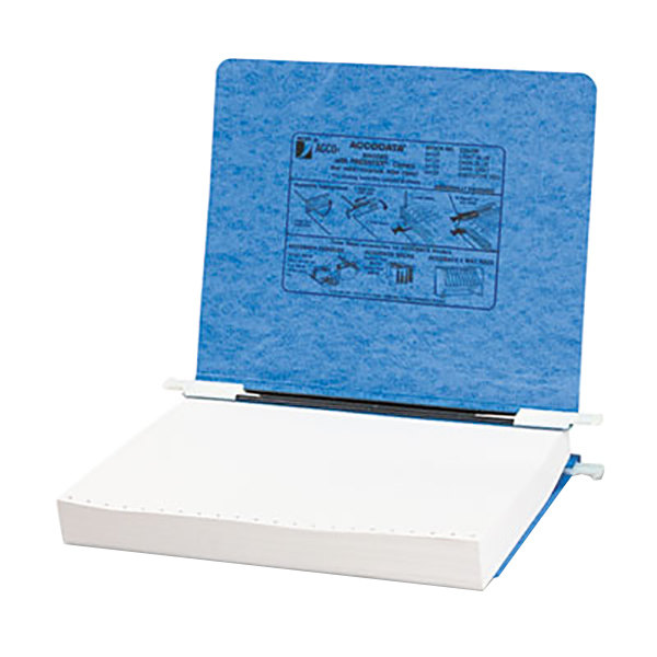 """Acco 54122 Letter Size Side Bound Hanging Data Post Binder - 6"""" Capacity with 2 Fasteners, Light Blue"""