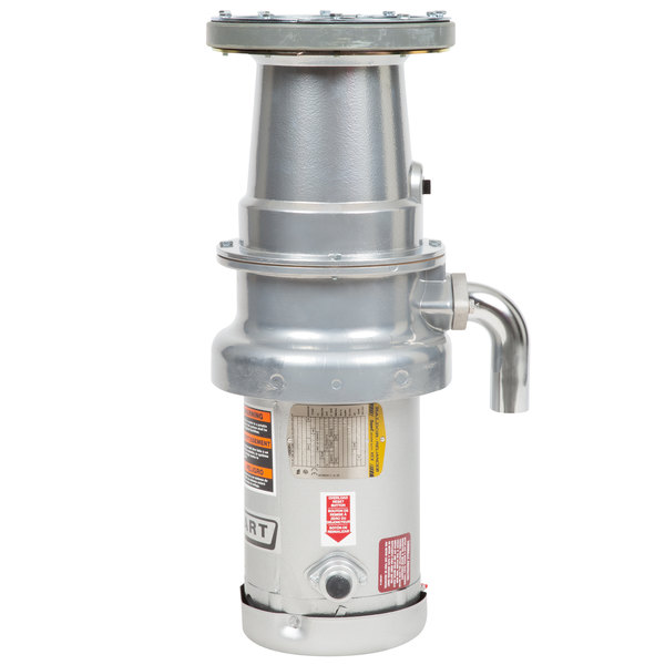 Hobart FD4/125-2 Commercial Garbage Disposer with Long Upper Housing - 1 1/4 hp, 208-240/480V Main Image 1