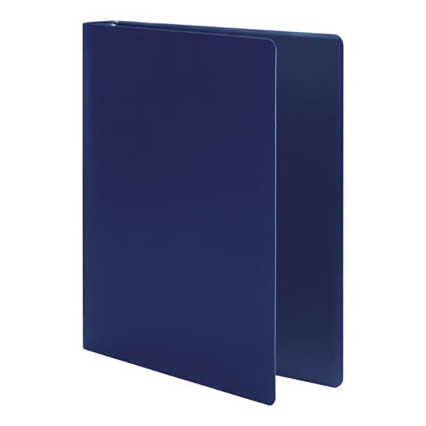 """Acco 39712 Accohide Dark Blue Non-View Binder with 1"""" Round Rings Main Image 1"""