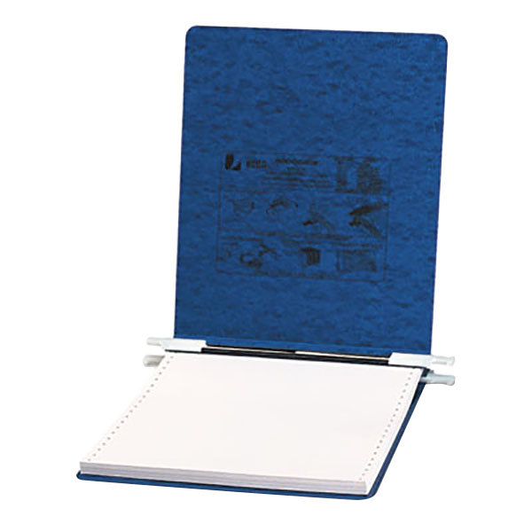 "Acco 54113 9 1/2"" x 11"" Top Bound Hanging Data Post Binder - 6"" Capacity with 2 Fasteners, Dark Blue"