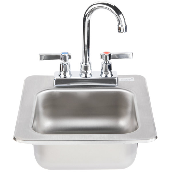 """Advance Tabco DI-1-25 Drop In Stainless Steel Sink 5"""" Deep"""