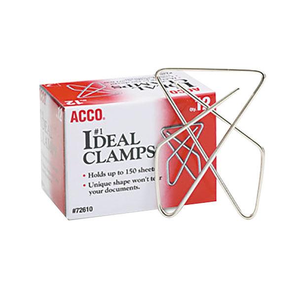 "Acco 72610 Large 2 5/8"" Metal Paper Clamp - 12/Box"