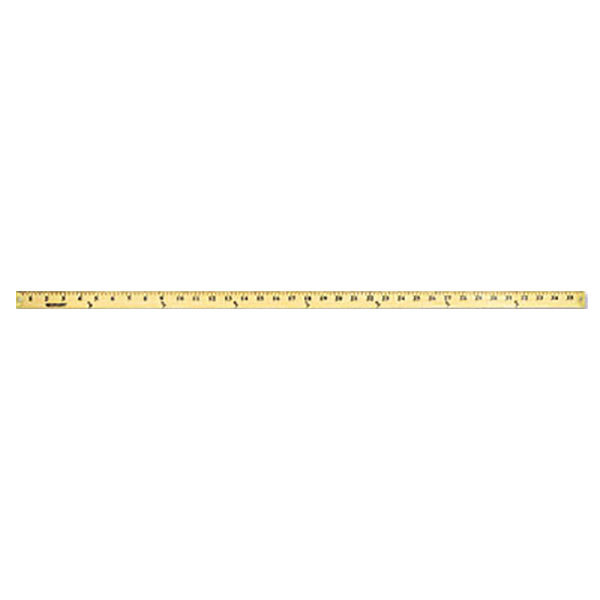 """Westcott 10425 36"""" Wood Yard Stick with Metal Ends - 1/8"""" Standard Scale"""