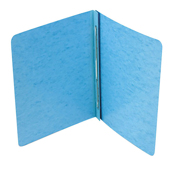 """Acco 25072 8 1/2"""" x 11"""" Light Blue Presstex Side Bound Report Cover with Prong Fastener - 3"""" Capacity"""