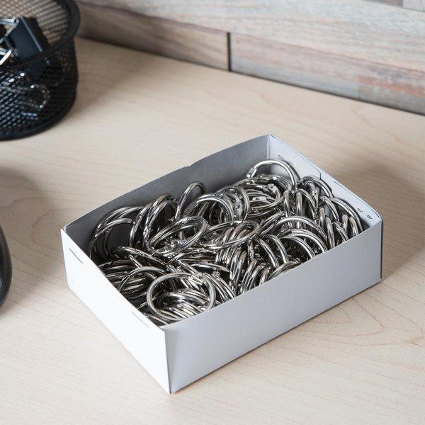 """Acco 72202 1"""" Diameter Metal Book Ring - 100/Box"""