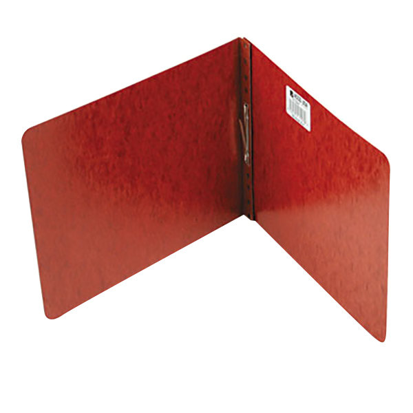 "Acco 17928 8 1/2"" x 11"" Red Pressboard Top Bound Report Cover with Prong Fastener - 2"" Capacity Main Image 1"