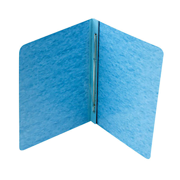 "Acco 25972 8 1/2"" x 11"" Light Blue Pressboard Side Bound Report Cover with Prong Fastener - 3"" Capacity"