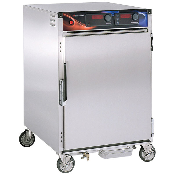Cres Cor H-137-WSUA-6D AquaTemp Half Height Insulated Stainless Steel Holding Cabinet - 120V, 2000W