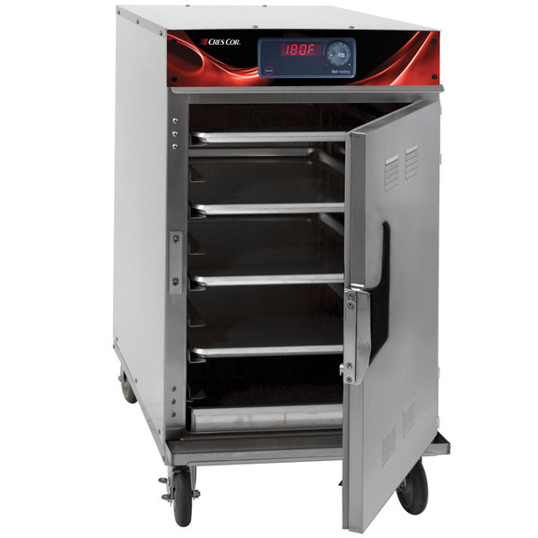 Cres Cor 1000-HH-SS-SPLIT-DX Insulated Half Height Holding Cabinet with Deluxe Controls - 120V, 900W