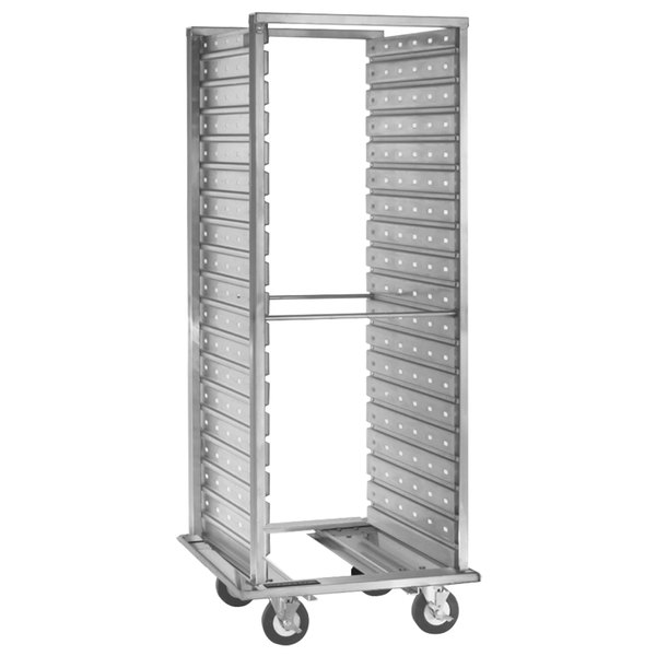 Cres Cor 208-1240-C 38 Pan Aluminum Food Pan Roll-In Refrigerator Rack with Corrugated Perforated Sidewalls - Assembled