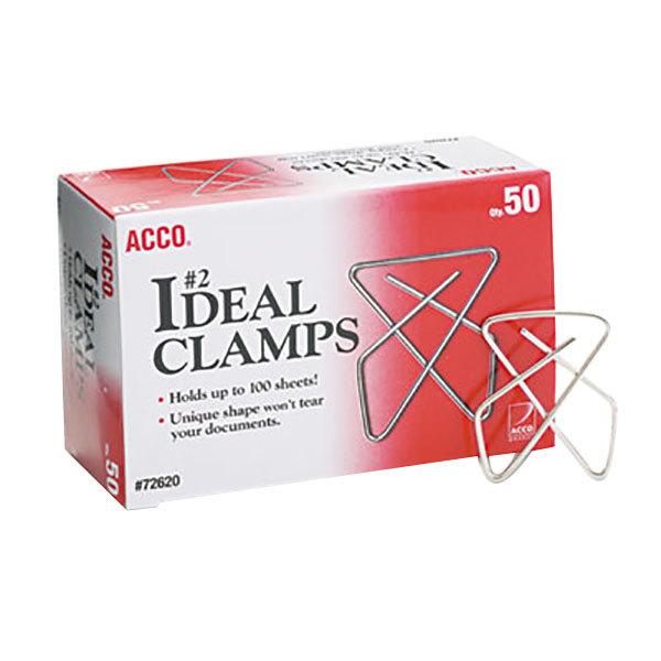 "Acco 72620 Small 1 1/2"" Metal Paper Clamp - 50/Box"