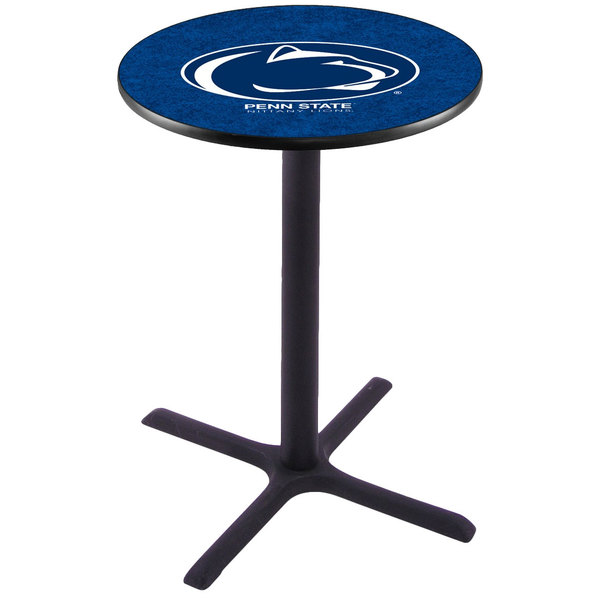 "Holland Bar Stool L211B3628PENNST 28"" Round Penn State University Pub Table"