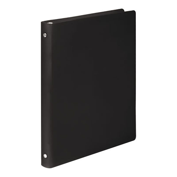 "Acco 39701 Accohide Black Non-View Binder with 1/2"" Round Rings Main Image 1"