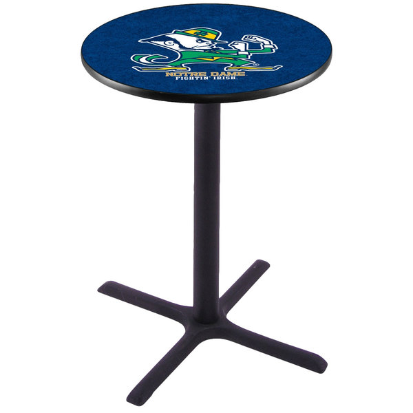 """Holland Bar Stool L211B36ND-LEP 28"""" Round University of Notre Dame Pub Table"""