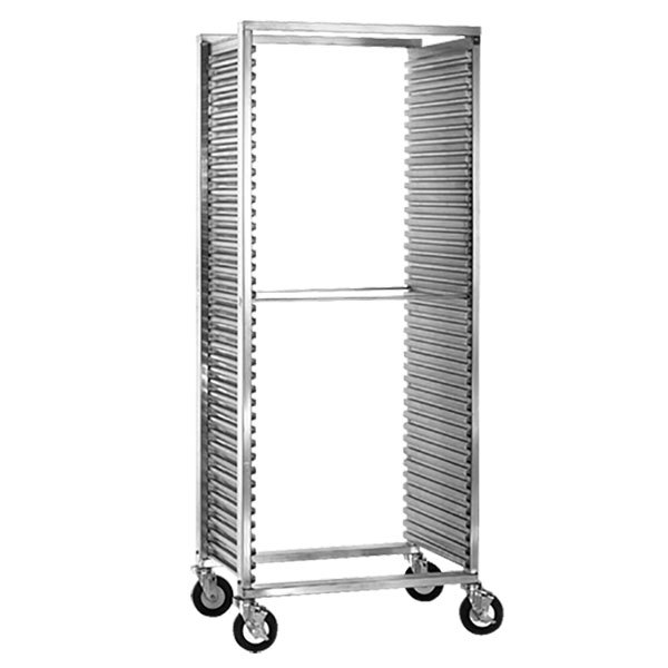 Cres Cor 210-1841A 39 Pan Side Load Aluminum Bun / Sheet Pan Rack with Corrugated Sidewalls - Assembled