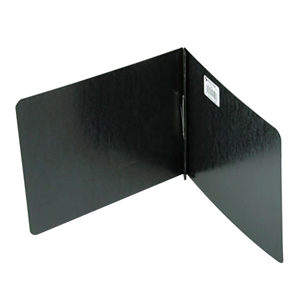 """Acco 19921 8 1/2"""" x 14"""" Black Pressboard Top Bound Legal Report Cover with Prong Fastener - 2"""" Capacity"""