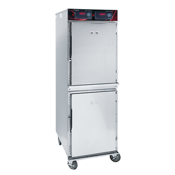 Cres Cor 1200-HH-SS-2DX Insulated Full Height Holding Cabinet with Deluxe Controls - 120V, 1800W