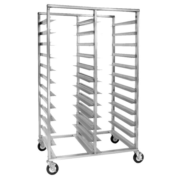 Cres Cor 2207-2420A 20 Tray Side Load Double Aluminum Oval Tray Rack - Assembled Main Image 1