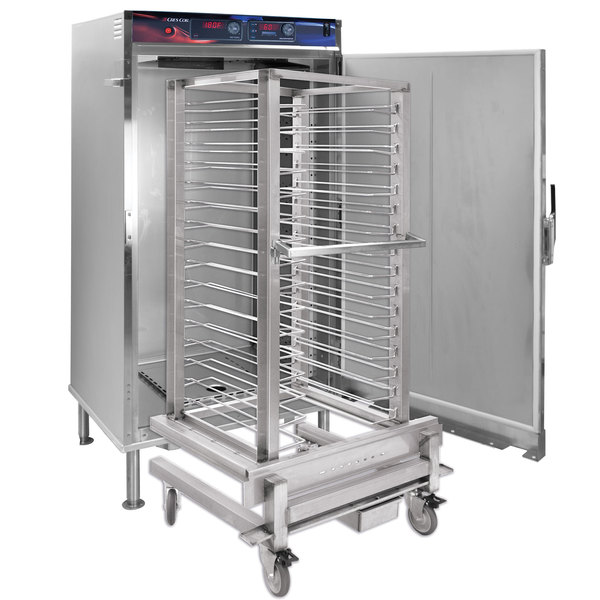 Cres Cor RH-UA16W-D AquaTemp Insulated Full Height Stainless Steel Roll-In Holding Cabinet with Roll-In Rack - 208V, 3000W Main Image 1
