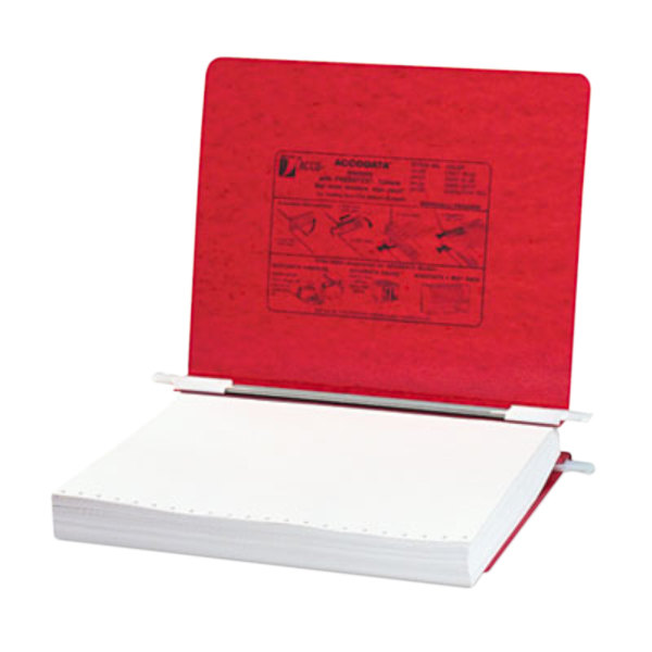 """Acco 54129 Letter Size Side Bound Hanging Data Post Binder - 6"""" Capacity with 2 Fasteners, Executive Red"""