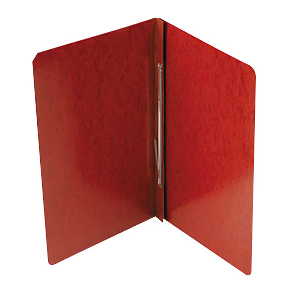 """Acco 30078 8 1/2"""" x 14"""" Red Presstex Side Bound Legal Report Cover with Prong Fastener - 3"""" Capacity Main Image 1"""