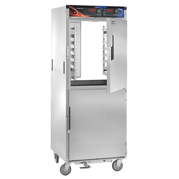 Cres Cor H-138-PWS-1834D AquaTemp Insulated Full Height Stainless Steel Pass-Through Holding Cabinet - 120V, 2000W