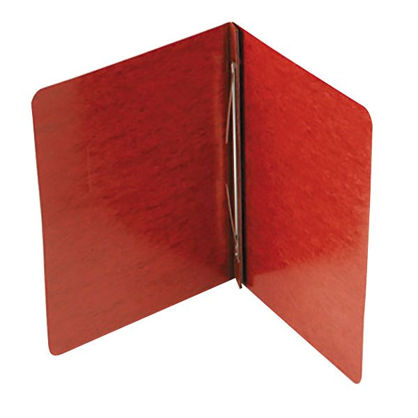 """Acco 25978 8 1/2"""" x 11"""" Red Pressboard Side Bound Report Cover with Prong Fastener - 3"""" Capacity"""