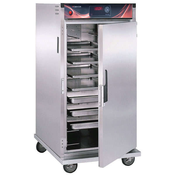 Cres Cor H-137-SUA-9D-Z Insulated 3/4 Height Correctional Stainless Steel Holding Cabinet - 120V, 1500W