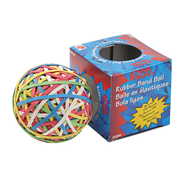 Acco 72155 Assorted Size and Color Rubber Band Ball Main Image 1