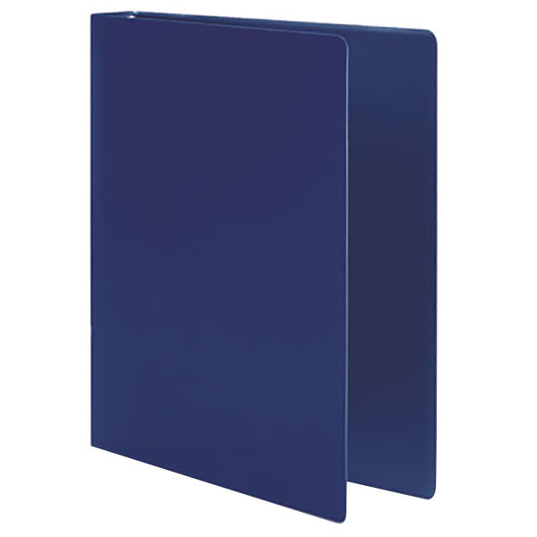 """Acco 39702 Accohide Dark Blue Non-View Binder with 1/2"""" Round Rings"""