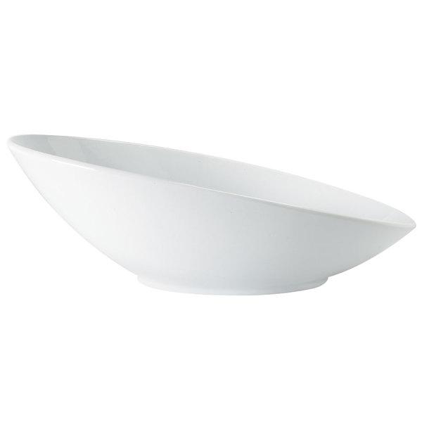 GET B-797-W San Michele 1.1 Qt. White Oval Cascading Melamine Bowl - 6/Case
