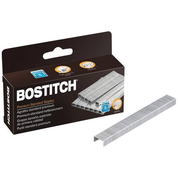 "Bostitch PaperPro 1901 210 Strip Count 1/4"" Standard Chisel Point Staples - 5000/Box"