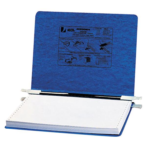 "Acco 54133 8 1/2"" x 12"" Side Bound Hanging Data Post Binder - 6"" Capacity with 2 Fasteners, Dark Blue Main Image 1"