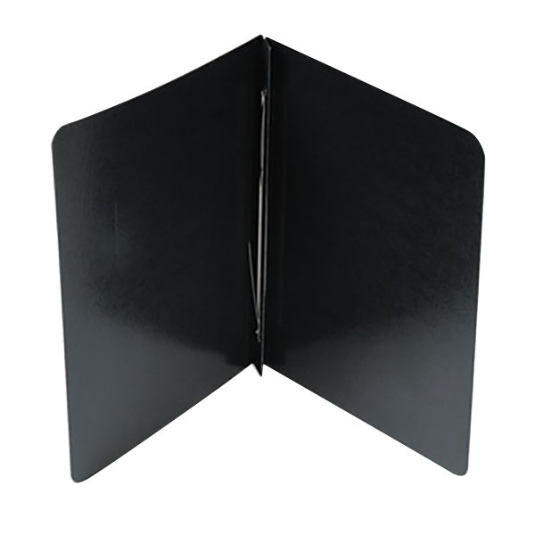 """Acco 25071 8 1/2"""" x 11"""" Black Presstex Side Bound Report Cover with Prong Fastener - 3"""" Capacity"""