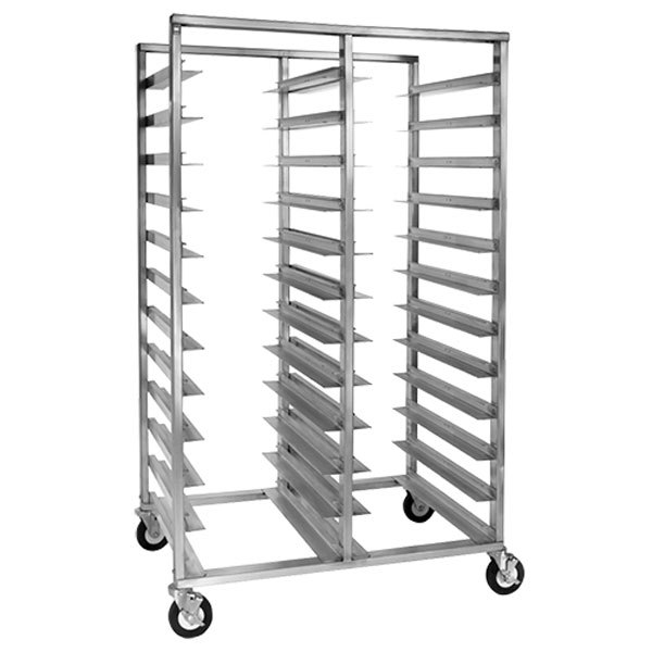 Cres Cor 2213-1824B 24 - 48 Pan End Load Double Aluminum Bun / Sheet Pan Rack - Assembled