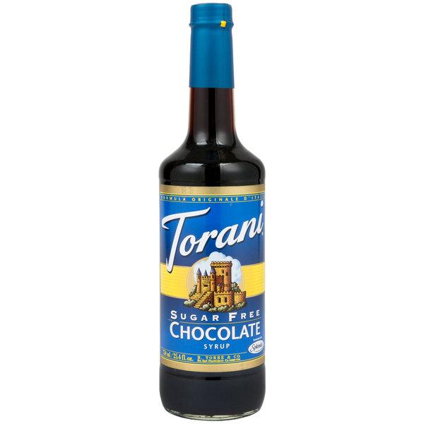 Torani 750 mL Sugar Free Chocolate Flavoring Syrup