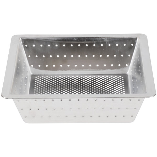 "10"" x 10"" x 3"" Flanged Stainless Steel Floor Drain Strainer with 1/8"" Perforations"