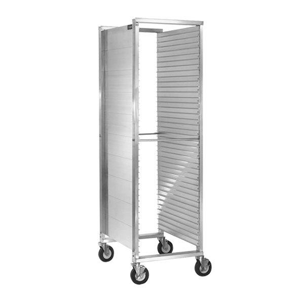 Cres Cor 252-1840 39 Pan End Load Aluminum Bun / Sheet Pan Rack with Extruded Sidewalls - Assembled